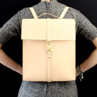 Leather backpack laptop bag handmade in Australia using vegetable tanned leather