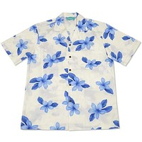 delight blue hawaiian cotton shirt