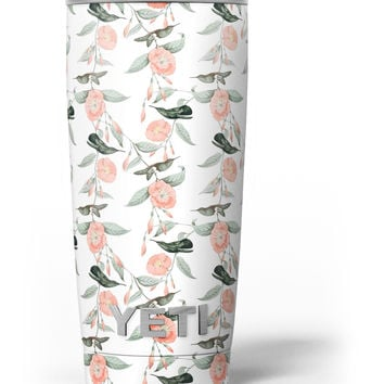 The Coral Flower and Hummingbird All Over Print Yeti Rambler Skin Kit