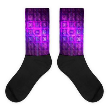 Square Buttons || Black foot socks — Future Life Fashion