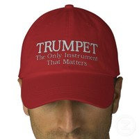 Great Embroidered Trumpet Music Cap Embroidered Baseball Caps from Zazzle.com