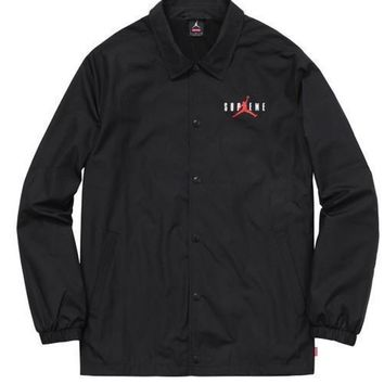 Supreme Jordan Coach Jacket - Black