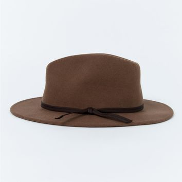 Brixton | Coleman Fedora Dark Tan | Princess Polly