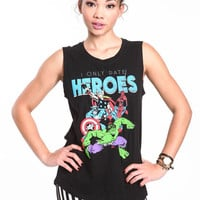 I ONLY DATE HEROES MUSCLE TANK