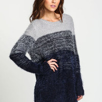Ombre Boyfriend Furry Sweater