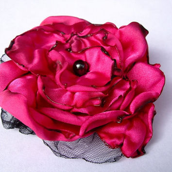 Fuchsia Flower Accessory Hair Clip or Pin by OurPlaceToNest