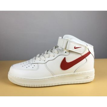 Nike Air Force 1 Mid 07 Sail/University Red