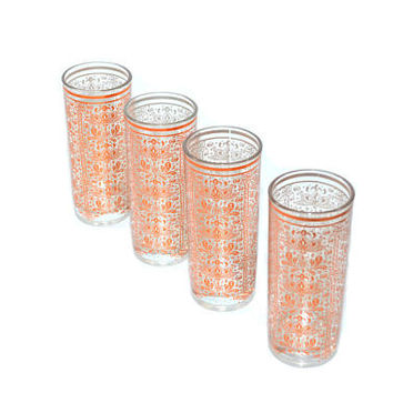 Vintage Copper Glasses Copper BarwareTumblers Copper Tumblers Set of 4 Copper Glasses