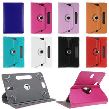 For Acer Iconia One B1-770 7 inch Tablet Universal PU Leather Cover Case 360 Degree Rotating 8 Colors Free Shipping