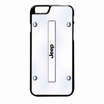 Jeep On Plate White iPhone 6 Plus case
