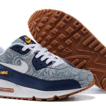 Nike Air Max 90 Unisex Sport Casual Multicolor Flower Air Cushion Sneakers Couple Running Shoes