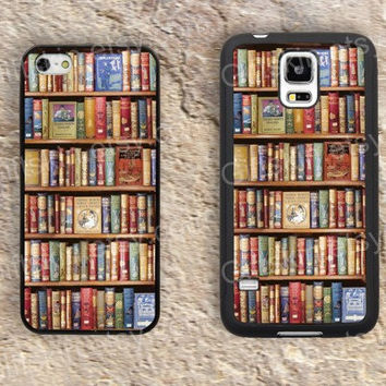 The bookshelf books  iphone 4 4s iphone  5 5s iphone 5c case samsung galaxy s3 s4 case s5 galaxy note2 note3 case cover skin 166
