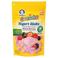 Gerber Graduates Yogurt Melts Freeze-Dried Yogurt & Fruit Snacks Mixed Berries - 1oz