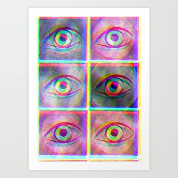 Psychedelic eyes Art Print by LoRo  Art & Pictures