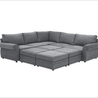 PEARCE UPHOLSTERED 6-PIECE FAMILY SECTIONAL