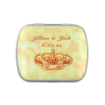 Golden Crown WEDDING Jelly Belly Candy Tin