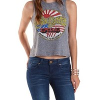 Heather Gray Aerosmith Graphic Muscle Tee by Charlotte Russe