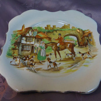 "English Ware Ye Olde Sly Fox Lancaster Ltd. Hanley England 8"" decorative plate"