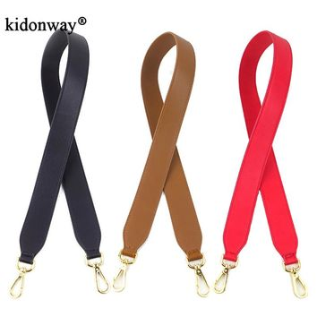 KIDONWAY 102cm straps for handbags women purse parts female bags belt PU leather straps for bag with flower bag accessory 1005