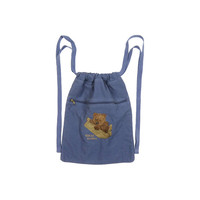 embroidered bear backpack / tote
