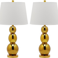 Brent Table Lamp Set, Gold, Table Lamps