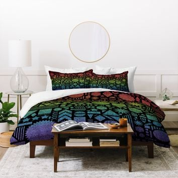 Nick Nelson Modern Elements With Spectrum Duvet Cover