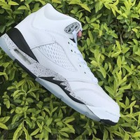Air Jordan 5 while Basketball Shoes 36-40