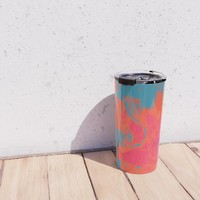 Pixelated Travel Mug by duckyb