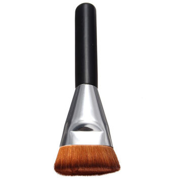 Cosmetic Multifunction Fiber Contour Brush Flat Powder Brush