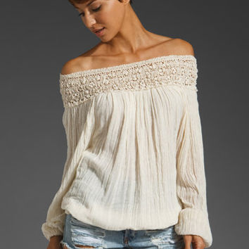 Jen's Pirate Booty Paradise Cove Off Shoulder Top in Natural from REVOLVEclothing.com