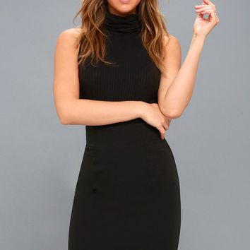Quincy Black Pencil Skirt