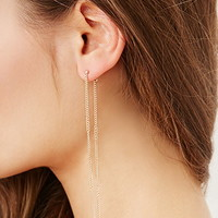 Ear Pin and Drop Chain Set