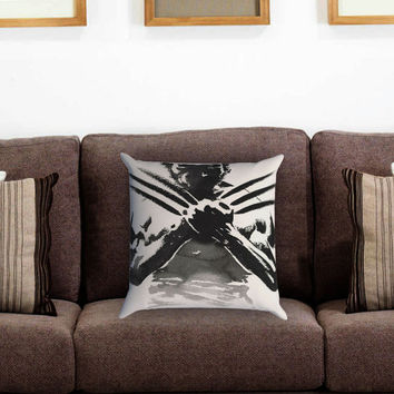 The Wolverine Sketch on Paper art Pillow Cover , Custom Zippered Pillow Case One Side Two Sides