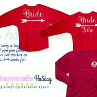 Bride and Bride Tribe Pom pom pullovers