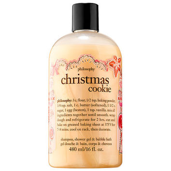 Sephora: philosophy : Christmas Cookie Shampoo, Shower Gel & Bubble Bath : body-wash-shower-gel