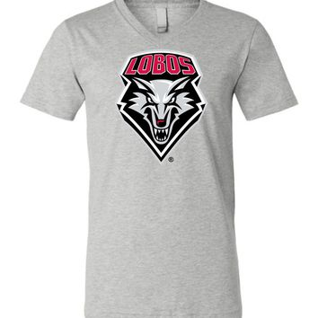 Official NCAA University of New Mexico Lobos Unisex V-Neck T-Shirt - sc01nm