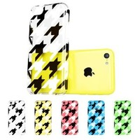 iPhone 5C Case, ESR® the Beat Series Hard Clear Back Cover Snap on Case for iPhone 5C (Houndstooth)