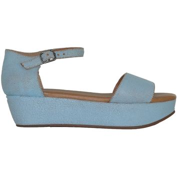 Daisy Platform Sandals - Blue