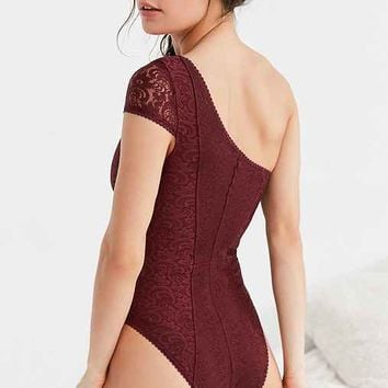 Out From Under Bardot One-Shoulder Bodysuit