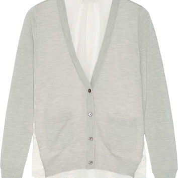 CLU - Lace-paneled wool and cashmere-blend cardigan