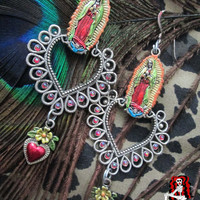 Ruega por Nosotros - Day of the Dead Religious Earrings  by Killerdolly666