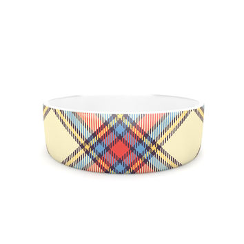 "KESS Original ""Sunday Brunch Plaid"" Tartan Pet Bowl"