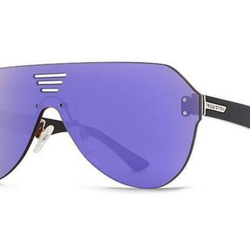 VonZipper - Alt Farva Black Gloss ALG Sunglasses, Flash Pink Lenses