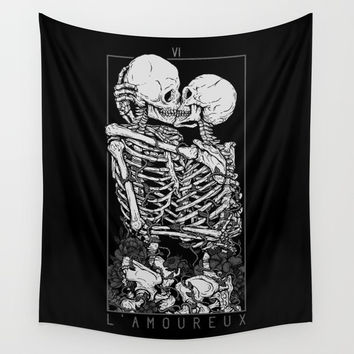 The Lovers Wall Tapestry by deniart