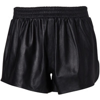 Gathered Leather Short
