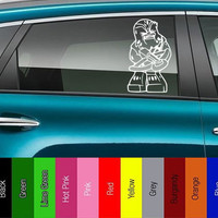Star Wars - Chewbacca Lego-like - Vinyl Decal for Car, Truck, Wall, Laptop - Jedi, Empire, Rebel, Skywalker,
