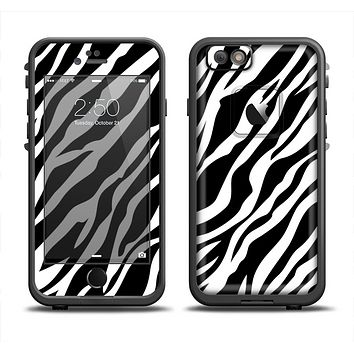 The Simple Vector Zebra Animal Print Apple iPhone 6 LifeProof Fre Case Skin Set
