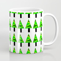 Christmas tree 2-pine,Yule-tree,Christmas,garlands,baubles,tinsel,evergreen,Star of Bethlehem Coffee Mug by oldking