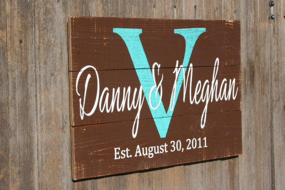Wedding Gift Name Sign : Personalized Name Sign Wedding Gift from RusticlyInspired on Etsy