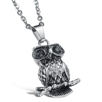 Shiny Gift Jewelry New Arrival Stylish Owl Men Accessory Strong Character Chain Necklace [10783260803]